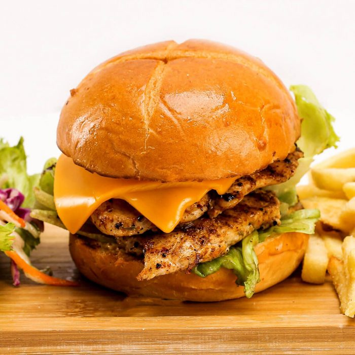 Best beef cheeseburgers at Room Service DHA Lahore